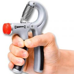 AVMART Handgrip Adjustable Resistance 10-50 kg Hand Grip Exerciser, Hand Squeezer, for Arm Grip (Gray)