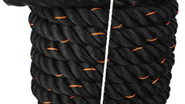 "Cockatoo BR-50 Professional Use (1.5"" Thick / 50 Feet(15 Mtr ) Battle Rope; Exercise Rope"