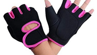 DreamPalace India Women's Gym Gloves (Pink, Free Size)