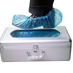 GLOBAL STATCLEAN SYSTEMS Global Automatic Shoe Cover Dispenser with Disposable Shoe Covers (Blue)
