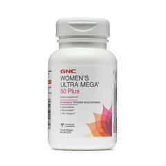 GNC Women's Ultra Mega 50 Plus Premium Multivitamin for Women Over 50 (60 Tablets)