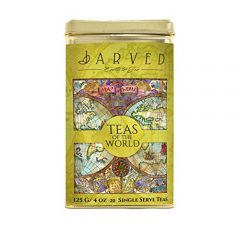 Jarved Teas of The World Assorted Gift Box Set - 15 Types of Exotic Teas from 10 Countries| 15 Loose Leaf Teas in Recyclable Tin Box| Unique Tea Gifts for Men, Women, Anniversary, Birthday,