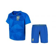 JS Brazil Football Jersey with Shorts for Kids and Mens (13-14 Years)