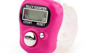 Keepus Tally Counter Finger Counter Handheld, Digit Number Lap Counter Manual Mechanical Clicker with Wrist Band