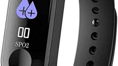 MiD Rubber and Plastic Fitness Waterproof M3 Smart Band 0.87 Inch OLED Sports Blood Pressure Heart Rate Tracker Bluetooth for iOS Android with Cable Protector