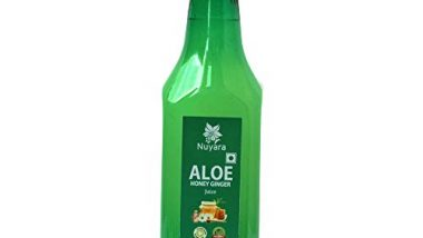 Nuyara Aloevera Juice 500ml (With Extra Benefits Of Honey-Ginger, 8% Just To Improve Taste) Contains fibre, No added sugar