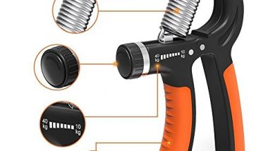 Strauss Adjustable Hand Grip Strengthener, (Black/Orange)