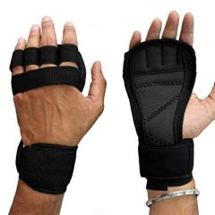 TEAM KONG Weight Lifting Gloves with Built-in Wrist Wraps, Full Palm Protection & Extra Grip. Great for Pull Ups, Cross Training, Fitness, WODs & Weightlifting. Suits Men & Women (Large)