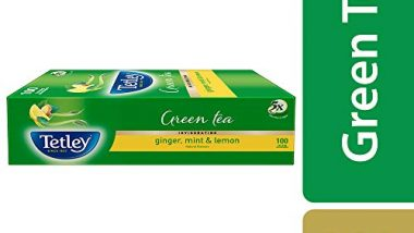 Tetley Green Tea, Ginger, Mint and Lemon, 100 Tea Bags