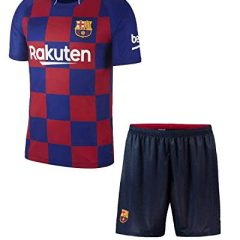 Uniq Barcelona Jersey Set(Mens& Kids) (12-13 Years, chines Collar)