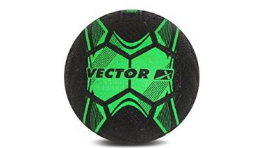 Vector X Street Soccer Rubber Moulded Football, Size 5 (Green/Black)