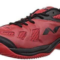 NIVIA - - Step Out & Play 210RB Mesh Energy Tennis Shoes, UK 5 (Red/Black)