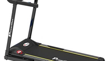 PowerMax Fitness TDM-101 (2.0HP) Motorized Treadmill with MP3 & iPad holder
