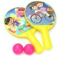 Ratna's Sporty Indoor Fun time Table Tennis Set for Kids(Plastic) let The Journey to Become Champion Begin (Yellow)