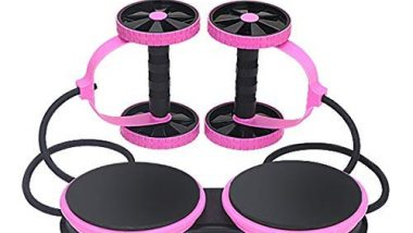 CHHELL Multifunctional Abdominal Wheel Resistance Pull Rope Fitness Equipment