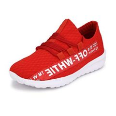 FENTACIA Men Off White Series Running/Jogging Shoes with Memory Foam,Grafitti Shoe, Colors and Big (UK6-UK12)