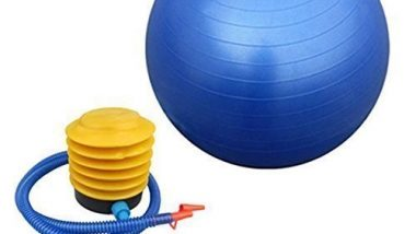 ADDCART Anti-Burst Exercise Gym Ball 65cm with Pump | Anti-Slip Balance Stability Ball | Heavy Duty Fitness Yoga Ball | Extra Thick Swiss Birthing Ball