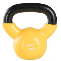AmazonBasics Vinyl Kettlebell - 10 Pounds, Light Orange