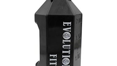 Evolution Fitness Sports Exercise Gallon Gym Water Bottle Extra Large & Strong -2.2L(Black)