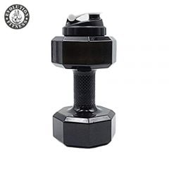 Evolution Fitness Sports Exercise Gym Dumbbell Water Bottle Extra Large & Strong 2.2L(Black)