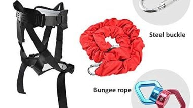 Generic 40-120kg Aerial Anti-Gravity Yoga Resistance Band Set Bungee Dance Flying Rope Workout Fitness Home Gym Equipment Color Basic 61-80kg