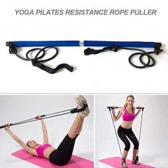 Generic Body Abdominal Resistance Rope Puller Multi Functional Yoga Rally Rod Yoga Pilates Stick Fitness Bar