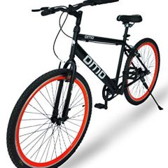 Omobikes Model-1.0 Lightweight |13kg| Fast Light Weight Hybrid Cycle with Alloy Rims, Anti Rust Frame | Orange Rims