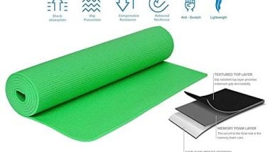 Strauss Yoga Mat, 6 mm, (Green)