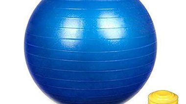 Wazdorf Exercise Heavy Duty Gym Ball Non-Slip Stability Ball Anti Burst Yoga Ball Balance Ball Extra Thick Fitness Ball for Home, Gym, Office with Quick Pump (Gym Ball 75cm with Pump)(Multicolor)