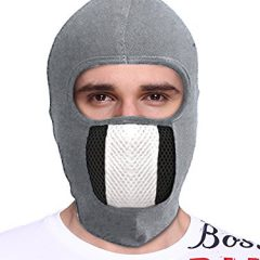 Big Tree® Pro Bike Riding & Cycling Anti Pollution Dust Sun Protecion Full Face Cover Mask (Light Grey)