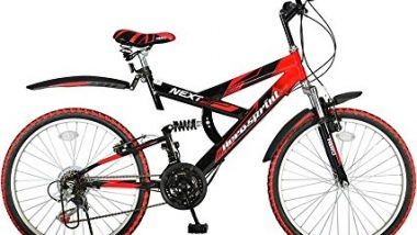 Hero Next 24T 18 Speed Mountain Bike (Red Black, Ideal For : 9 to 11 Years )