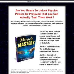 Miracle Mastery - Extreme, *Physical* Psychic Abilities