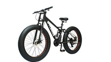 STURDY BIKES Dual Suspension Downhill Fat Mountain Bike (Black)